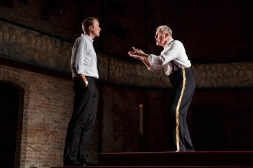 Oliver Chris as Prince William and Tim Pigott-Smith as his father King Charles III