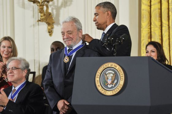 Stephen Sondheim getting the Presidential Medal of Freedom from President Obama.