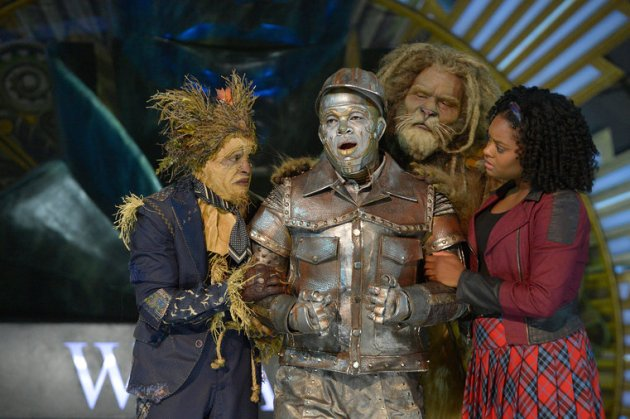 THE WIZ LIVE! -- Pictured: (l-r) Elijah Kelley as Scarecrow, Ne-Yo as Tin-Man, David Alan Grier as Lion, Shanice Williams as Dorothy -- (Photo by: Virginia Sherwood/NBC)