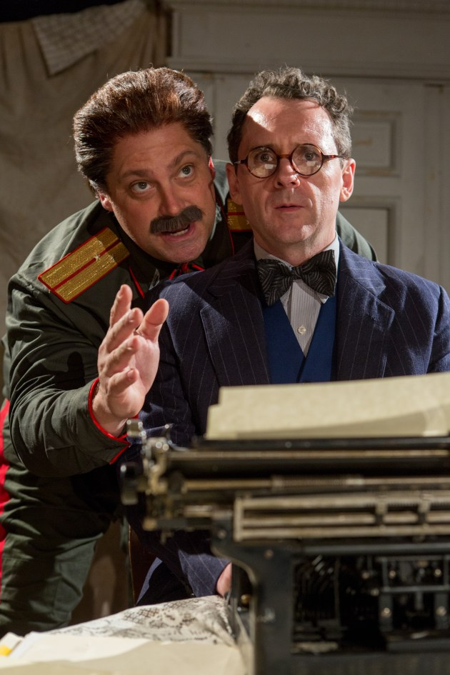 Ross DeGraw as Joseph Stalin and Brian J. Carter as Mikhail Bulgakov