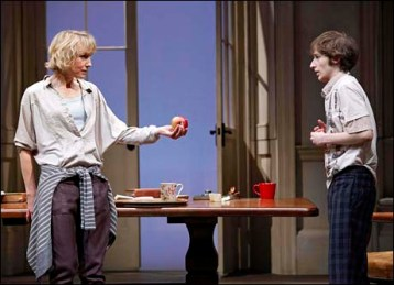 Noah Robbins with Lia Williams in Tom Stoppard's Arcadia, 2011