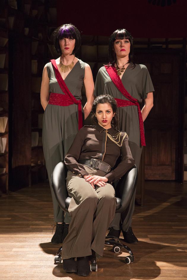 Seated: Layla Khoshnoudi Standing (L-R): Alaina Ferris and Catherine Brookman