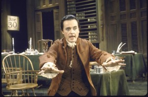 """Actor William Daniels as John Adams in the 1969 Broadway musical """"1776"""" about the signing of the Declaration of Independence. The musical will be presented in the Encores! concert series later this season."""