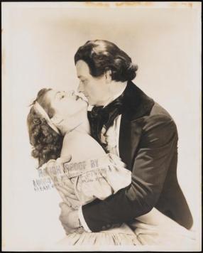 Diana Barrymore as Caroline Bronson and Robert Keith as Charles Dickens in Romantic Mr. Dickens, 1940