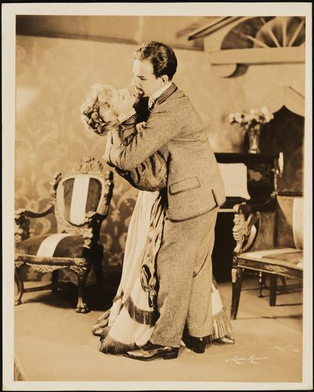 Dorothy Mathews as Natalya Ivanovna and Hume Cronyn as Andrei Prozorov in The Three Sisters 1943