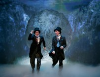 Signature Theatre presents OLD HATS Created and Performed by Bill Irwin and David Shiner Music and Lyrics by and Featuring Shaina Taub Directed by Tina Landau Pictured: Bill Irwin & David Shiner