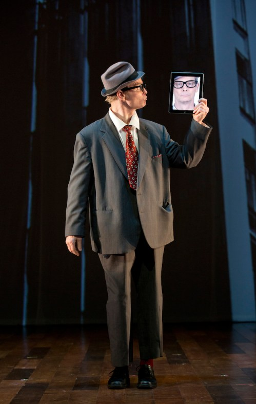 Bill Irwin in his iPad routine