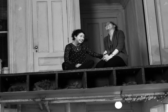 The Humans 1 Sarah_Steele_and_Cassie_Beck._Photo_by_Brigitte_Lacombe