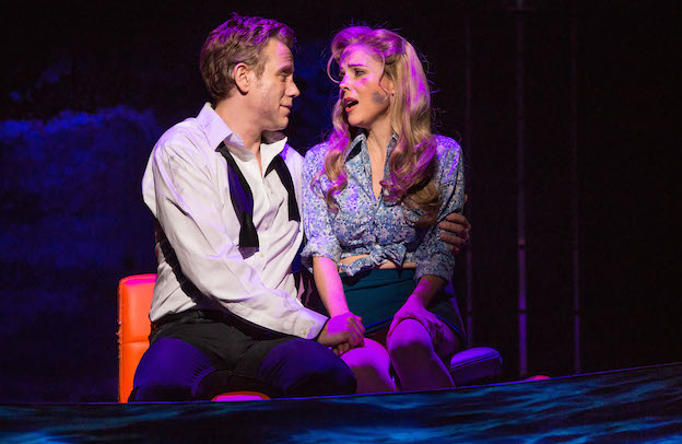 Disaster 2 Adam Pascal and Kerry Butler in DISASTER! on Broadway, photo by Jeremy Daniel Photography, 2016