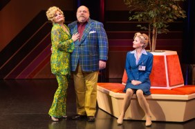 Disaster 3_Faith Prince, Kevin Chamberlin, Kerry Butler in DISASTER! on Broadway, photo by Jeremy Daniel Photography, 2016