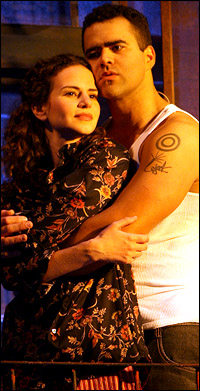 "Christopher Jackson as Benny and Mandy Gonzalez as Nina. They both went onto ""Hamilton."" They both sang songs left out of ""In The Heights"" at BroadwayCon"