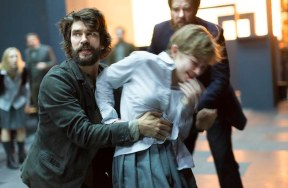 Ben Whishaw and Tavi Gevinson, with Jason Butler Harner in The Crucible