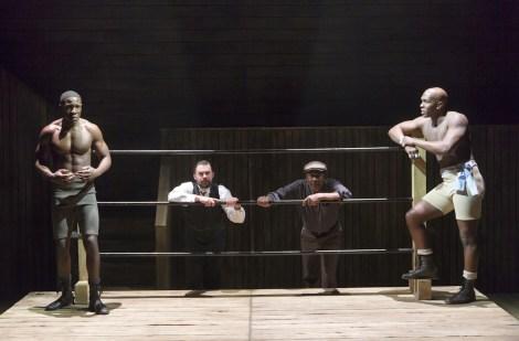 McKinley Belcher III (Fish), John Lavelle (Max) Clarke Peters (Wynton). Khris Davis (Jay)