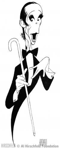 Al Hirschfeld caricature of Joel Grey as the Emcee