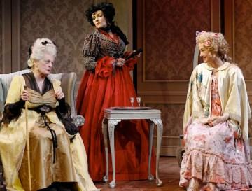 Dana Ivey, Frances Barber and Helen Cespedes in School for Scandal