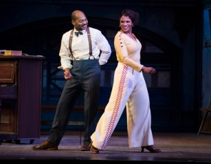 Brandon Victor Dixon and Audra McDonald and ensemble