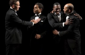 Brian Stokes Mitchell, Billy Porter, Joshua Henry and Brandon Victor Dixon in Shuffle Along, or The Making of the Musical Sensation of 1921 and All That Followed,