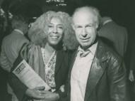 Ellen Stewart with director Peter Brook