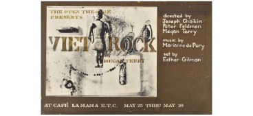 Viet Rock poster, 1966. a rock musical written and directed by Megan Terry that was produced a year before the musical Hair.