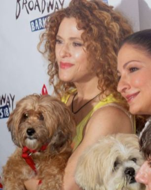Bernadette Peters and Gloria Estefan at Broadway Barks in 2016