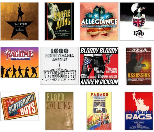 BroadwaymusicalsaboutAmericanhistorycollage