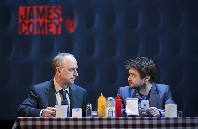 Michael Countryman and Daniel Radcliffe