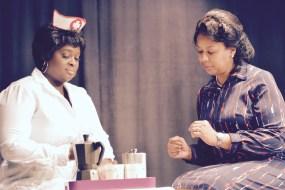 Nichole Thompson-Adams as the nurse, Thursday Farrar as Vera