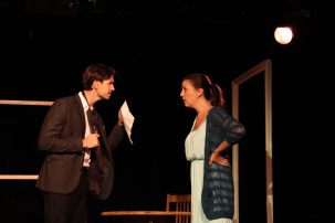 "Ryan Wesley Gilreath and Amanda Sykes in ""Reverend"" by Lynn Halliday in Gorges Motel"