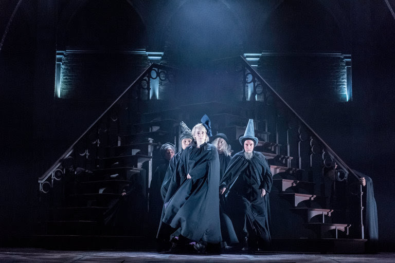 Scene from Harry Potter and the Cursed Child at the Palace Theater in London.