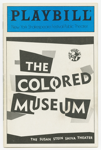 Playbill for The Colored Museum, 1986