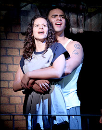 """Mandy Gonzalez and Christopher Jackson in """"In The Heights."""""""
