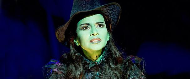 Mandy Gonzalez as Elphaba in Wicked