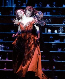 Mandy Gonzalez in Dance of the Vampires on Broadway with Michael Crawford. The show lasted three months