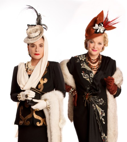 Patti LuPone and Christine Ebersole as rival cosmetics impresarios, in War Paint, 2017