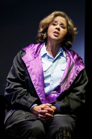 Anna Deavere Smith as Pastor Jamal-Harrison Bryant, delivering Freddie Gray's funeral eulogy.