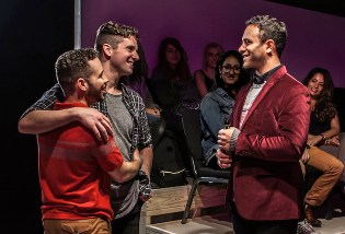 Robin de Jesus, Michael Urie, and Aaron Costa Ganis