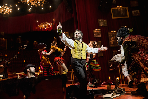 Josh Groban as Pierre and the cast of Natasha, Pierre and the Great Comet of 1812 on Broadway