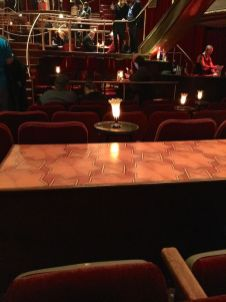 "View of one of the many ""stages"" onto which the ensemble perform"