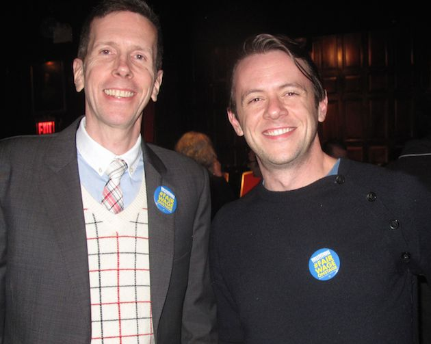 Robert Stanton and Nick Westrate, two of the leaders of #FairWageOnstage
