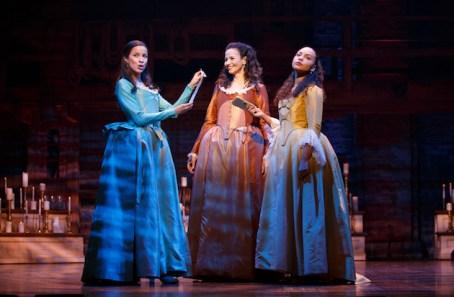 Lexi Lawson, Mandy Gonzalez, and Jasmine Cephas Jones (who has already left)