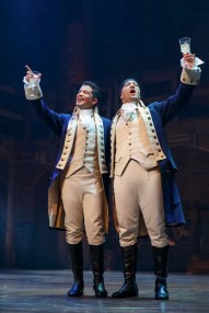 Jordan Fisher as Lafayette and Javier Munoz as Hamilton