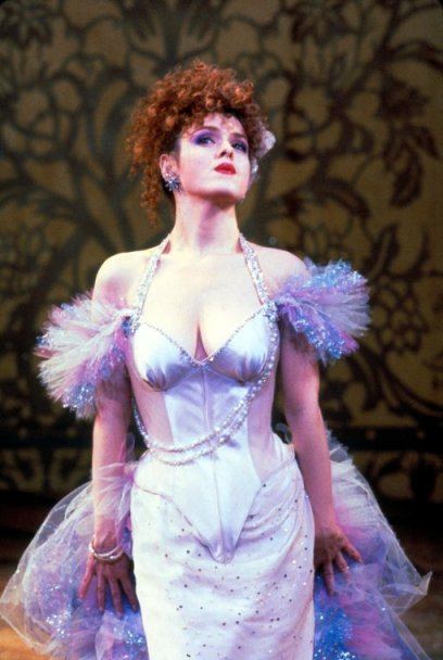 """Bernadette Peters in a scene from the Broadway production of the musical """"Into The Woods""""."""