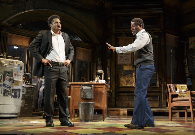 Confrontation between son and father: , Brandon J. Dirden as Booster and John Douglas Thompson as Becker
