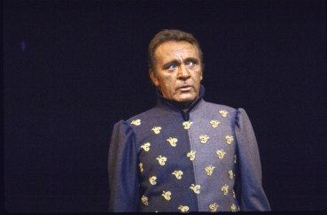 "Actor Richard Burton in a scene fr. the revival of the Broadway musical ""Camelot""."