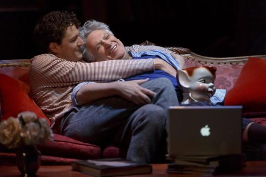 Gabriel Ebert and Harvey Fierstein in Gently Down the Stream
