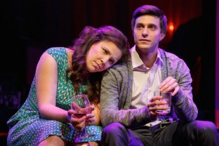Lindsay Mendez and Gideon Glick in Significant Other