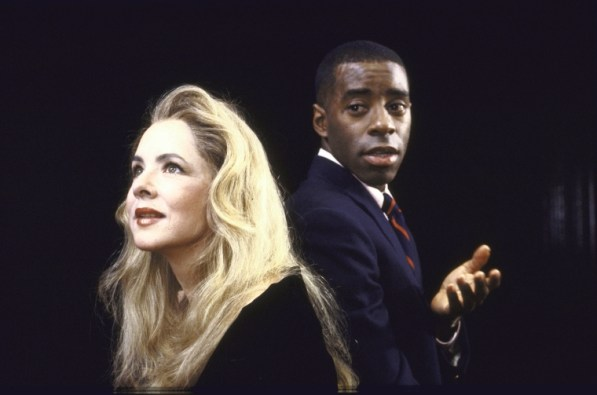 "Actors Stockard Channing & Courtney B. Vance in ""Six Degrees of Separation,"" opened November 8, 1990. Its second Broadway production is opening April 25, 2017."