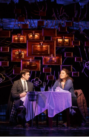 Andy Karl and Barrett Doss. Three days before Groundhog Day was to open, its star Andy Karl injured his kneed. The doctors ordered him to take a few days off. When he returned, in a cheeky bit of improvisation in what was supposed to scene of seduction, he lounged on the sofa, proudly showed off the elaborate black knee-brace on his bare outstretched leg, and stuck a glass of Scotch on top of it. Opened in April