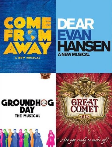 Best Musical Tony noms logos
