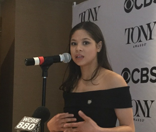 "Eva Noblezada, Miss Saigon. Best performance by an actress in a leading role in a musical. ""I still haven't gotten over that I'm on Broadway...Lea Salonga told me to enjoy the ride."""
